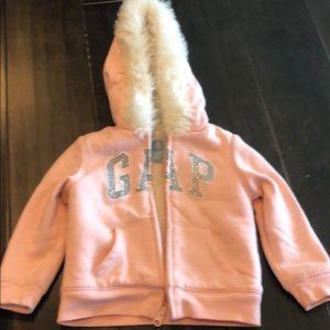 Baby print GAP logo hooded sweatshirt-2T